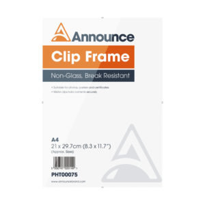Announce Metal Clip Frame A4 PHT00075