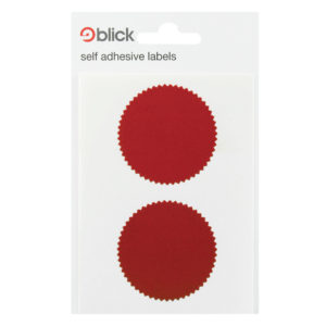 Blick Company Seal 50mm Diameter Red 8 Per Dispenser  RS014652