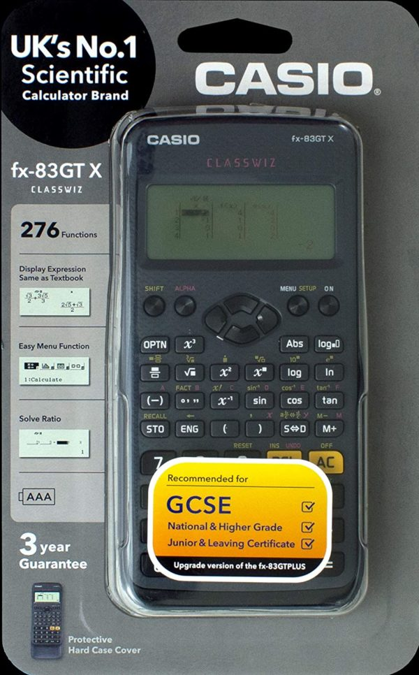 Casio Scientific Calculator FX-83GTX BLACK CS18509