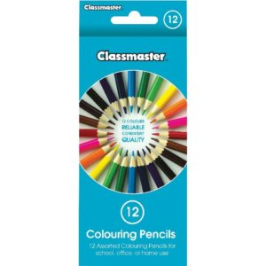 Classmaster Colouring Pencils Assorted (Pack of 12) CPW12 EG60067