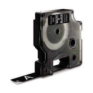 Dymo 45021 D1 LabelMaker Tape 12mm x 7m White on Black S0720610