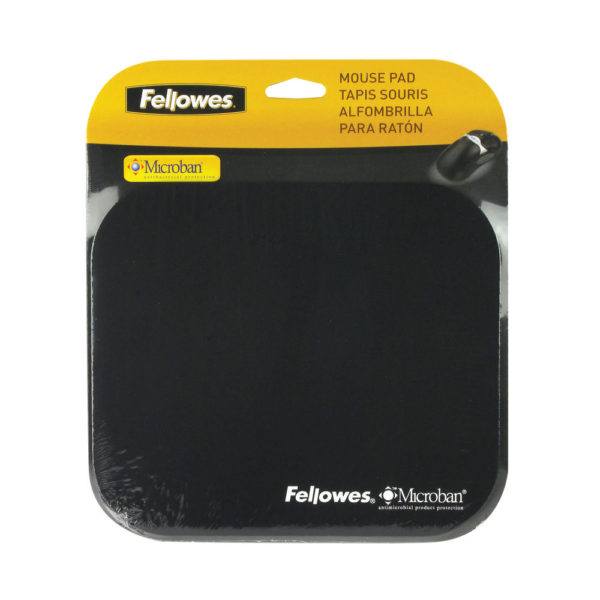 Fellowes Microban Antibacterial Mouse Mat Black 5933905
