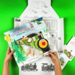 Giant Christmas Play Card Elf Express' Steam Train