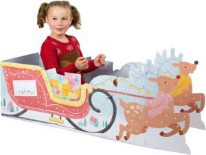 Giant Christmas Play Card Santa's Sleigh