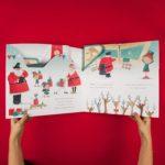 Giant Christmas Play Card 'Santa's Comet' Aeroplane
