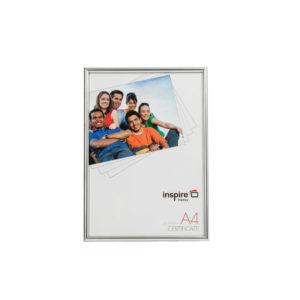 Inspire Photo Back Loader Frame A4 Silver PHT80304