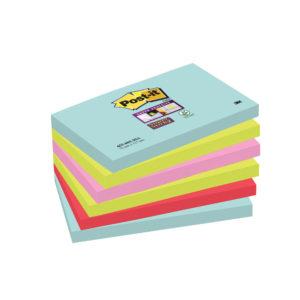3M Post-it Super Sticky Notes Miami 76 x 127mm 655-6SS-MIA