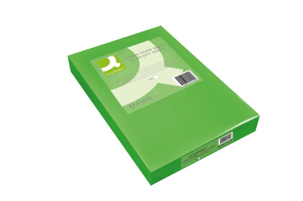 Q-Connect Bright Green Coloured A4 Copier Paper 80gsm Ream (Pack of 500) KF01429