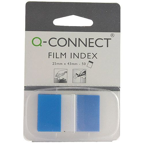 Q-Connect Page Marker Blue - Index Tab 25mm With Dispenser (Pack of 50) KF03632