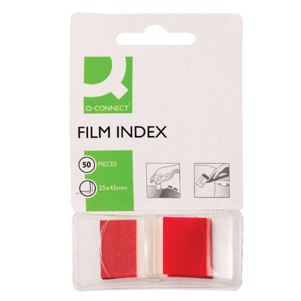Q-Connect Page Marker Red - Index Tab 25mm With Dispenser (Pack of 50) KF03633