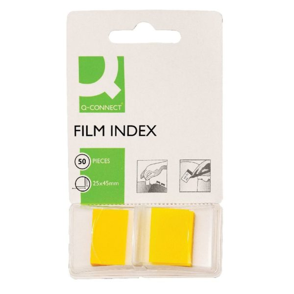 Q-Connect Page Marker Yellow - Index Tab 25mm With Dispenser (Pack of 50) KF03634