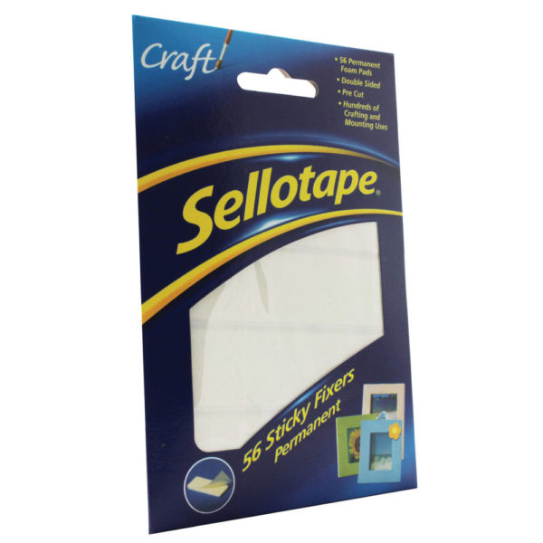 Sellotape Sticky Fixers Permanent 12x25mm (Pack of 56) 1445423 SE37984