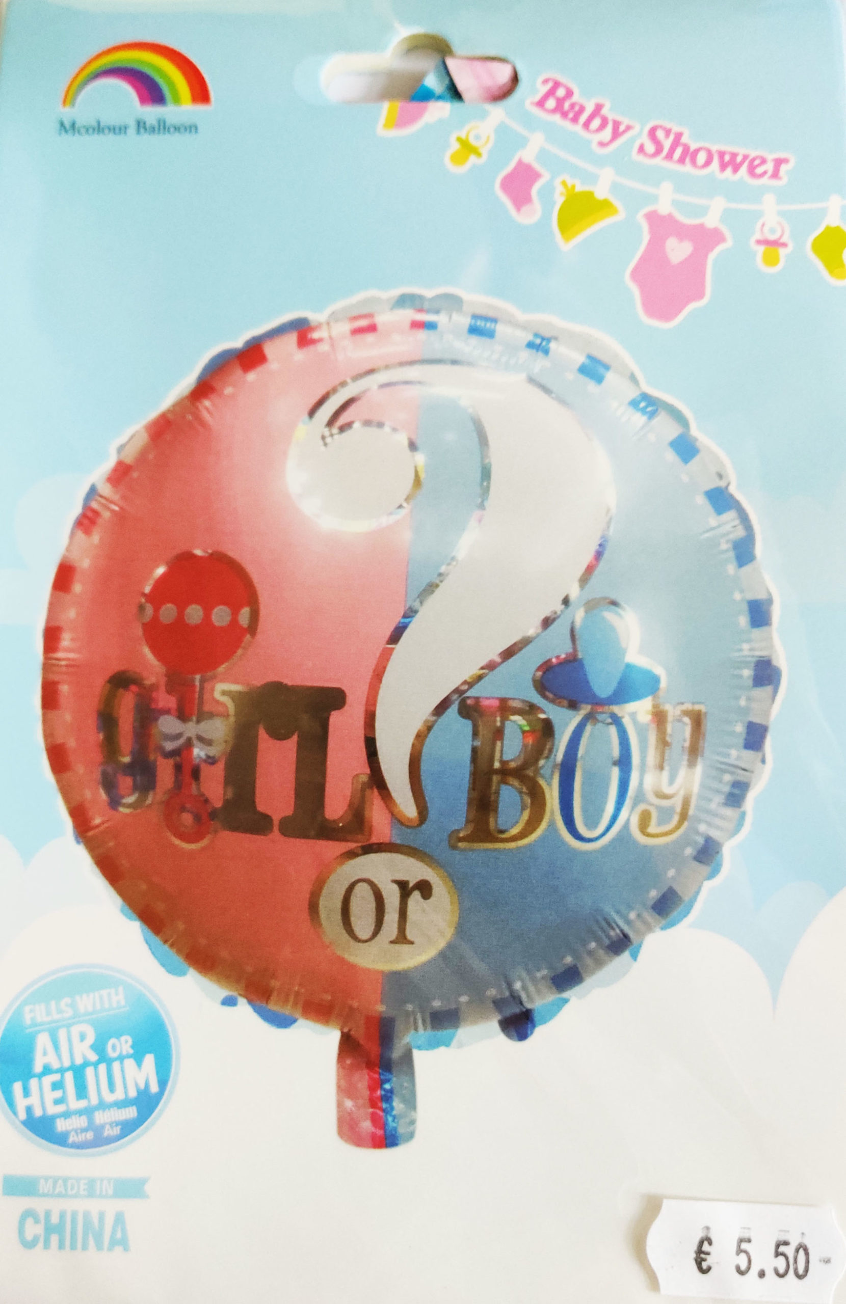 Baby Shower 18inch Foil Balloon Boy or Girl?