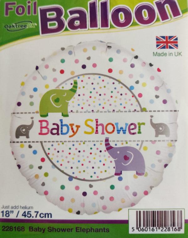 Baby Shower 18inch Foil Balloon Elephants 228168
