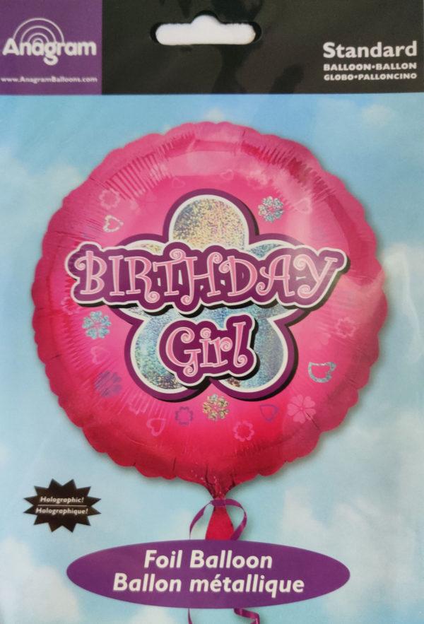 Birthday GIRL 18inch Foil Balloon Pink 35981