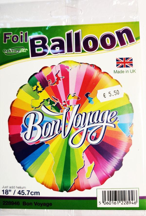 Bon Voyage 18inch Foil Balloon Multi Coloured 228946