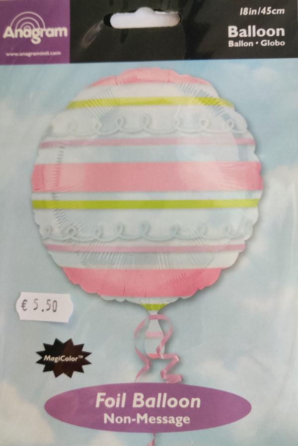 Clear Multi Coloured Striped Design 18inch Balloon 15291