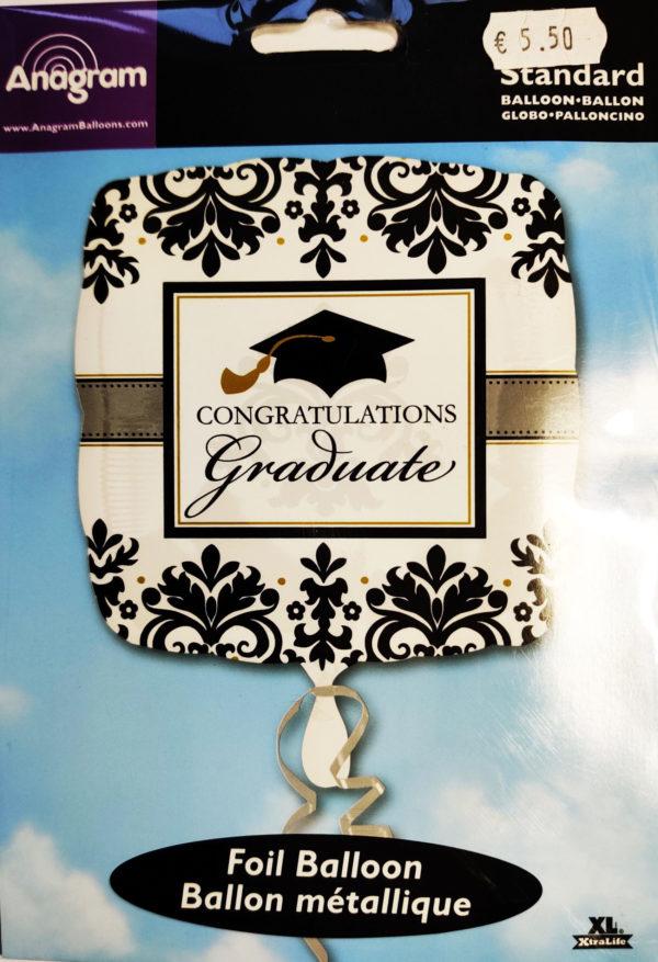 Congratulations Graduate 18inch Foil Balloon Square Shaped 113852