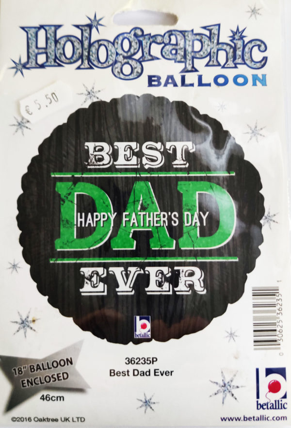 Father's Day - Best DAD Ever 18inch Foil Balloon 36235P
