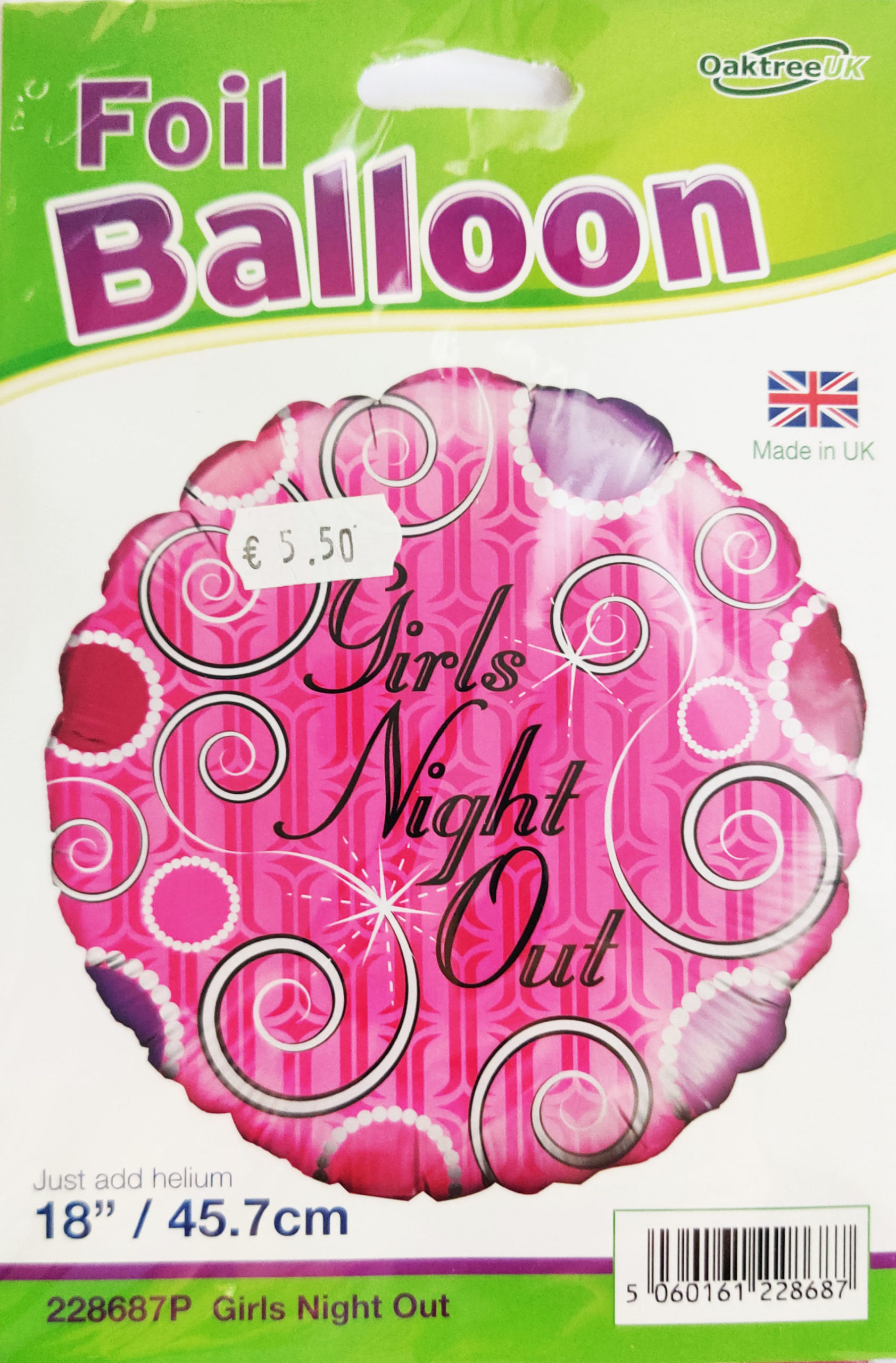 Girls Night Out 18inch Foil Balloon Pink 228687P