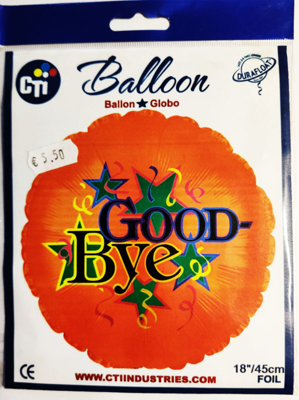 Good Bye 18inch Foil Balloon Multi Coloured 114148