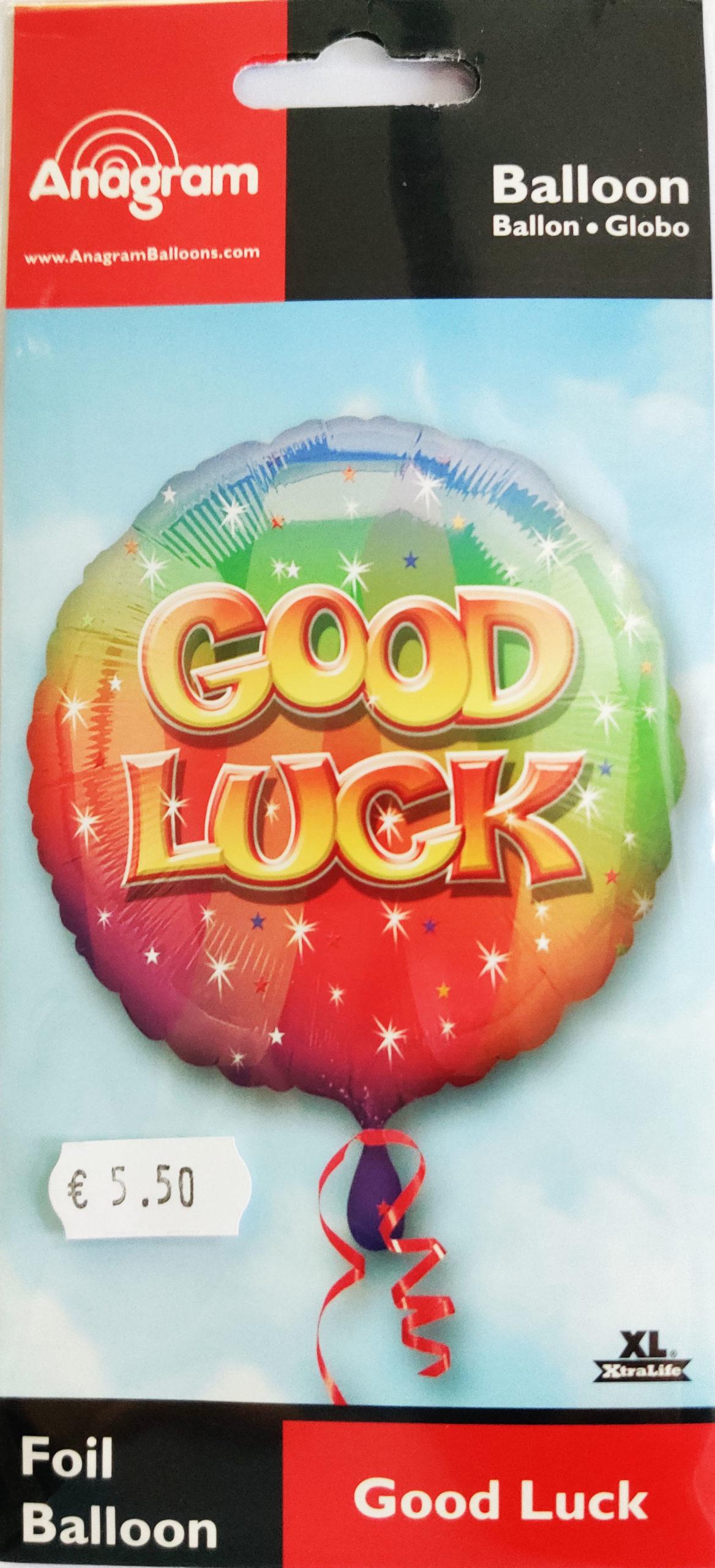 Good Lucks 17inch Foil Balloon Multi coloured 25915