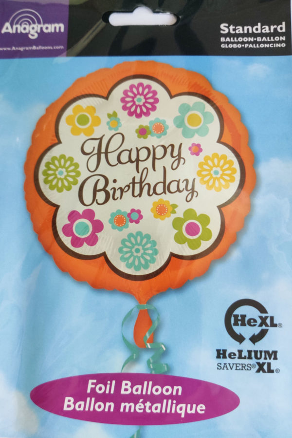 Happy Birthday 17inch Foil Balloon Floral Themed 33328