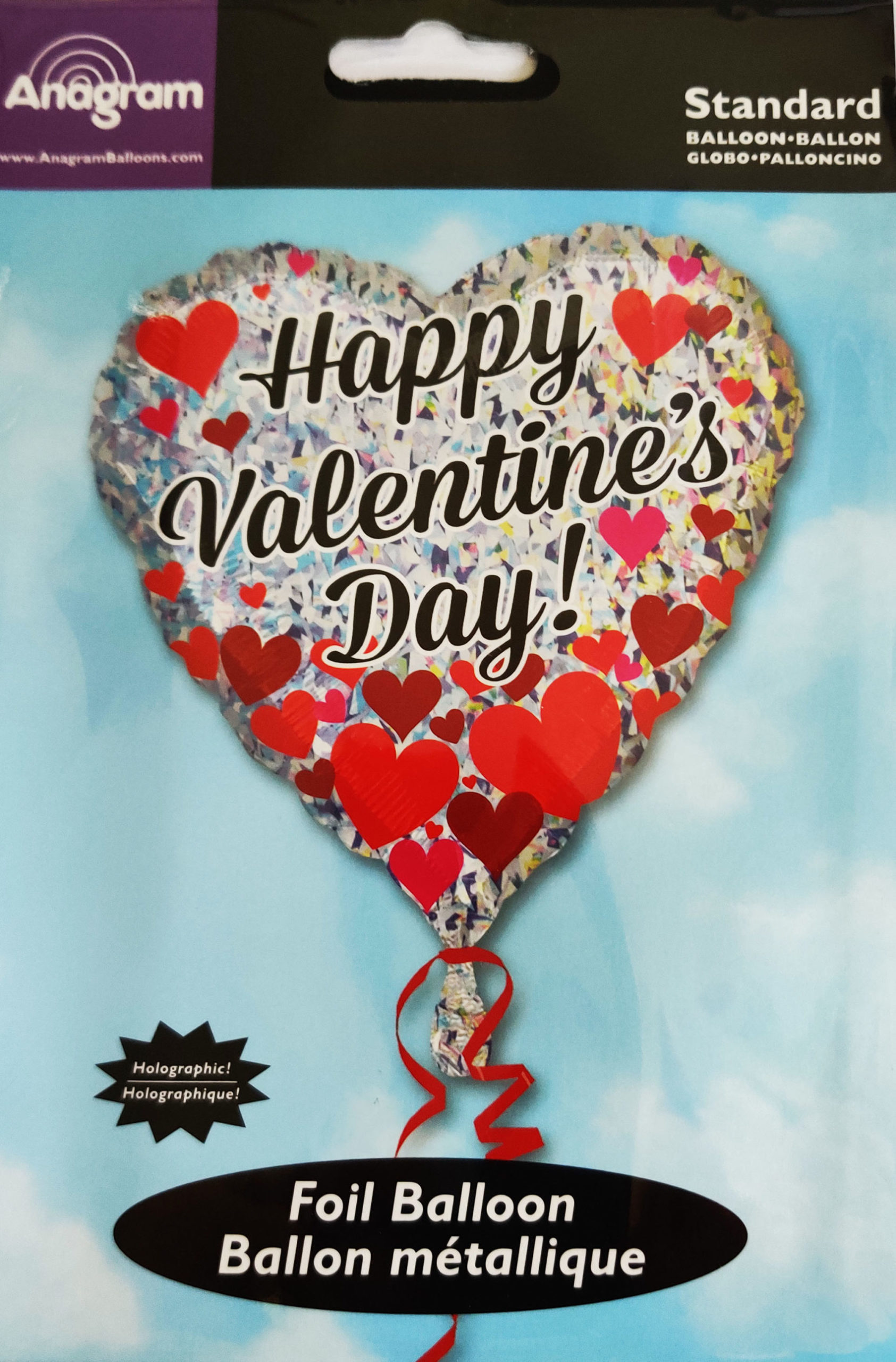 Happy Valentine's Day Heart Shaped 18inch Foil Balloon with Hearts 31794