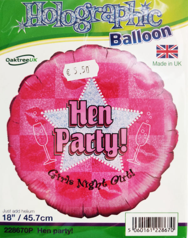 Hen Party 18inch Foil Balloon Pink Girls Night Out 228670P