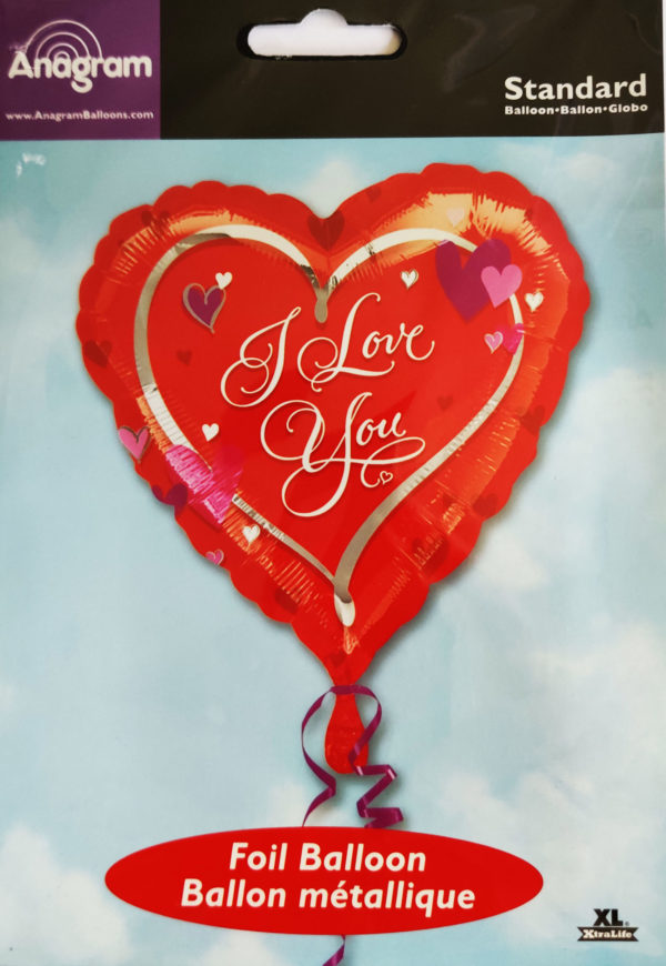I love you 18inch Foil Balloon Red Heart Shaped 10403