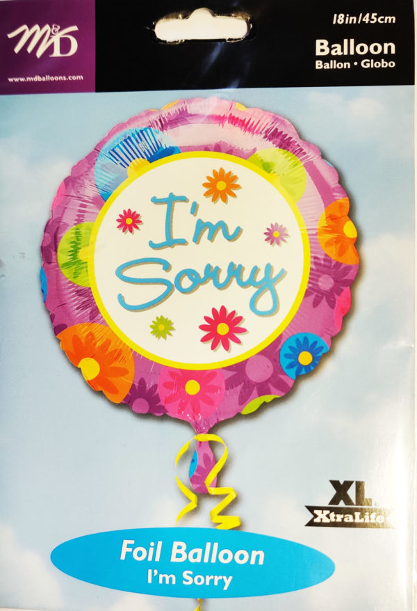 I'm Sorry 18inch Foil Balloon 11119