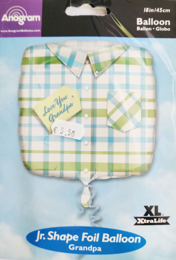 Love You Grandpa 18inch Foil Balloon Square Shaped Shirt Design 15335
