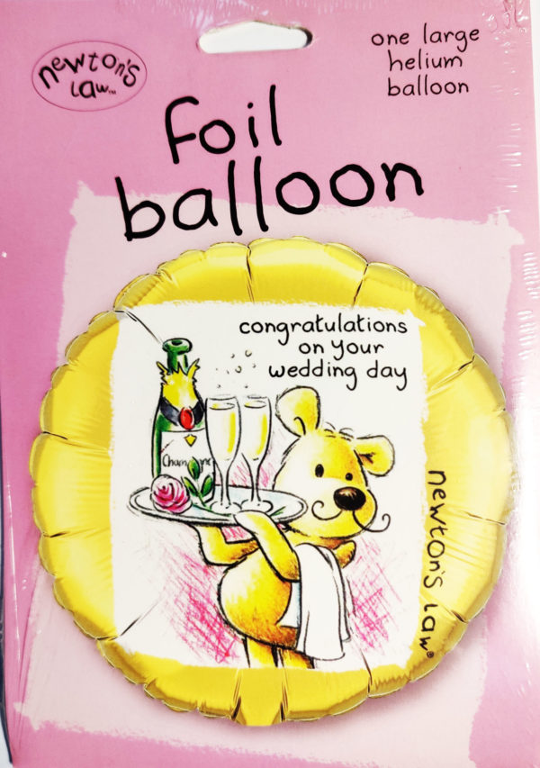 Newton's Law congratulations on your wedding day 18inch Foil Balloon 96404