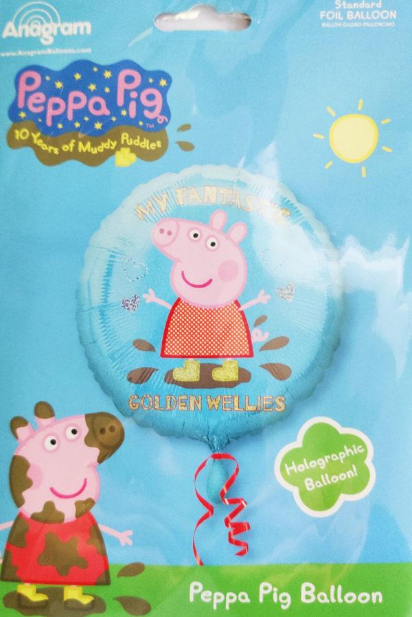 Peppa Pig 18inch Foil Balloon Golden Wellies 29748