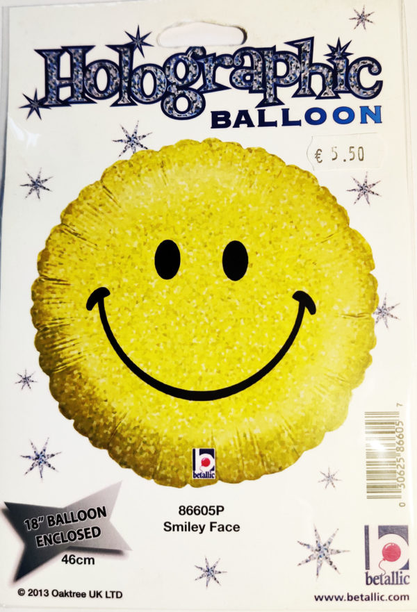 Smiley Face Emoji 18inch Foil Balloon 86605P