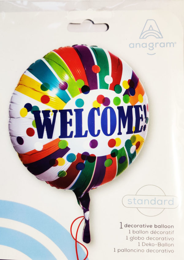 WELCOME! 17inch Foil Balloon Multi Coloured 3454401
