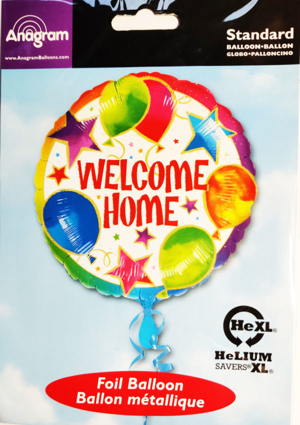 WELCOME HOME 17inch Foil Balloon Multi Coloured 08433