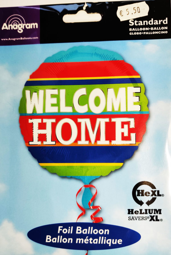 WELCOME HOME 17inch Foil Balloon Multi Coloured 34545