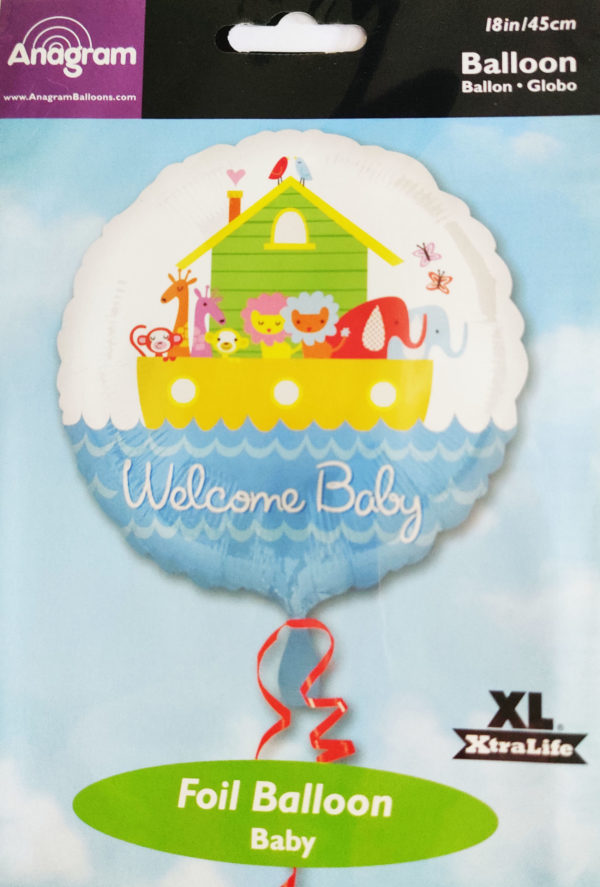 Welcome BABY 18inch Foil Balloon Noah's Ark 19949