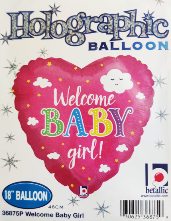 Welcome BABY Girl 18inch Foil Balloon Pink 36875P