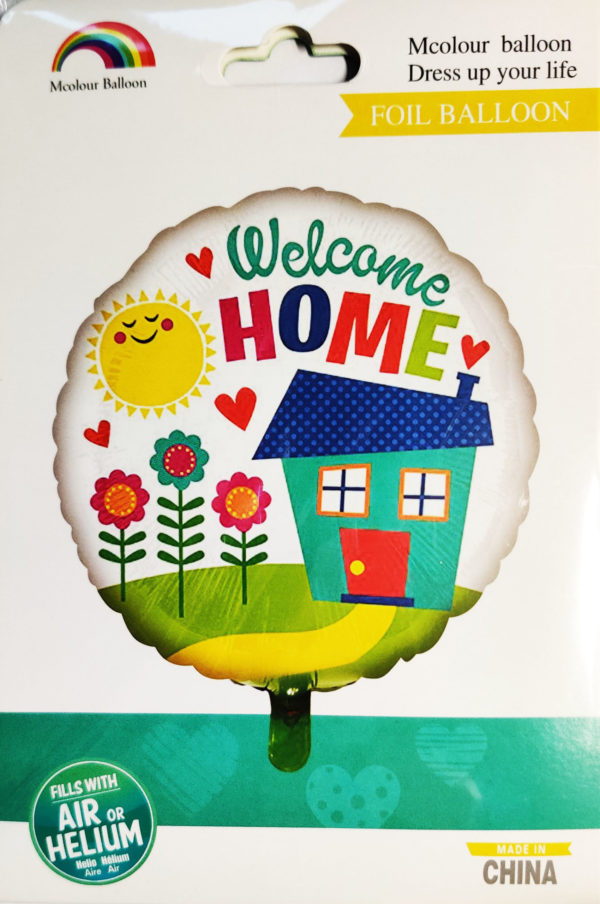 Welcome HOME 18inch Foil Balloon Multi Coloured