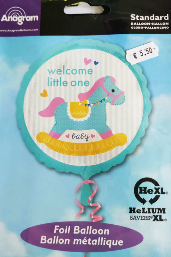 Welcome Little One  17inch Foil Balloon Rocking Horse 34459