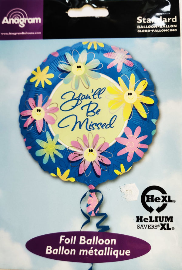 You'll Be Missed 17inch Foil Balloon 09899