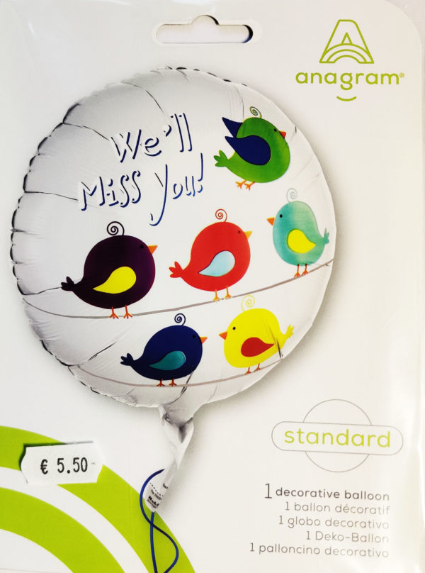 You'll Be Missed 17inch Foil Balloon Multi Coloured Tweety Bird 33689