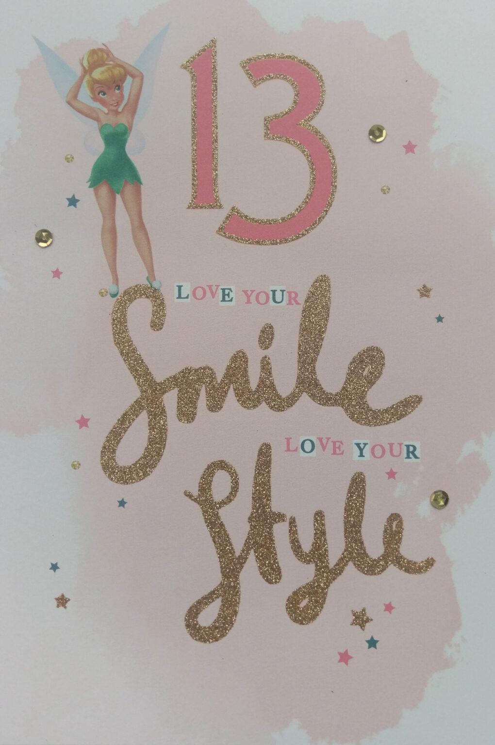 Hallmark Disney Fairies 13 lovy your Smile love your Style